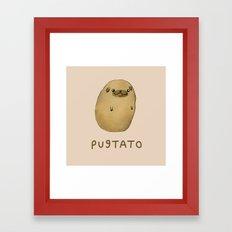 Pugtato Framed Art Print