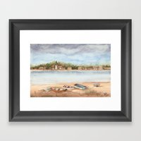Boats On The Sand Framed Art Print