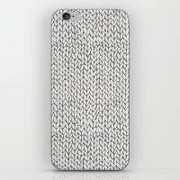 Hand Knit Grey iPhone & iPod Skin