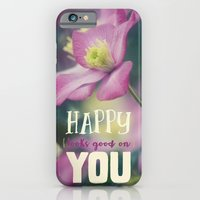 iPhone & iPod Case featuring Happy Looks Good on You by RDelean