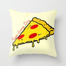Pizza Every Day Throw Pillow
