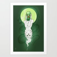 Girl Of The Lagoon Art Print