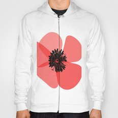Red Poppy Flower Hoody