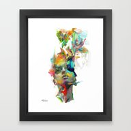 Framed Art Print featuring Dream Theory by Archan Nair