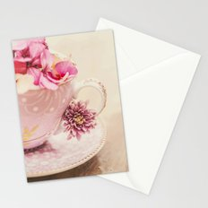 Flower storm in a teacup Stationery Cards