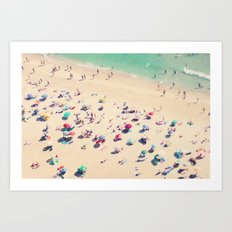 beach love - Nazare Art Print