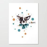 Chic Chihuahua Dog Canvas Print