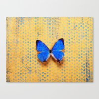 Morpho And The Blue Dots Canvas Print