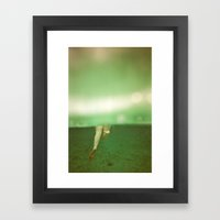 Underwater Feet Framed Art Print