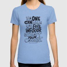 without your consent Womens Fitted Tee Athletic Blue SMALL