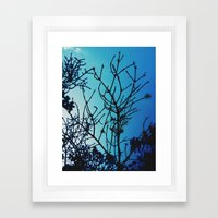 Cold As The Morning Framed Art Print