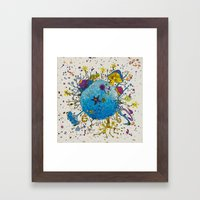 the snail planet Framed Art Print