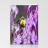 bee Stationery Cards featuring Bee by Dora Birgis