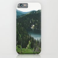 iPhone & iPod Case featuring SIAMESE LAKES MONTANA by Megan Robinson