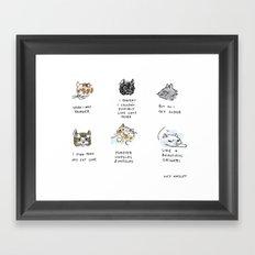 Beautiful Origami Framed Art Print