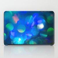 Bokeh in Blue iPad Case