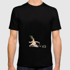 THE EMPORER'S NEW INVISIBLE DOG Mens Fitted Tee SMALL Black