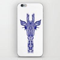 GIRAFFE BLUE iPhone & iPod Skin