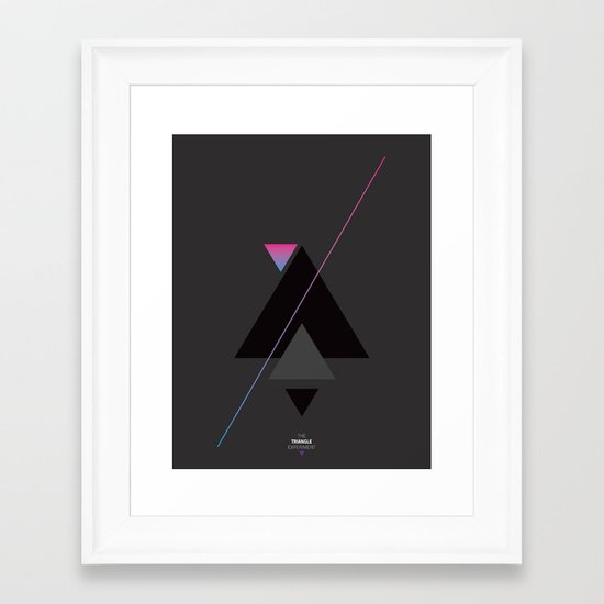 The Triangle Experiment Framed Art Print
