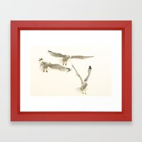 Beautiful Flight Framed Art Print