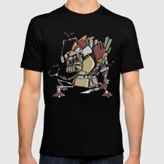 JunkBot Mens Fitted Tee SMALL Black