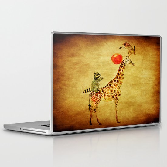 By playing on the giraffe Laptop & iPad Skin