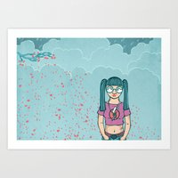 Cloud Girl Art Print