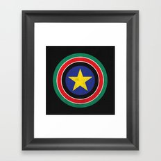 Captain South Sudan 2 Framed Art Print
