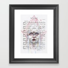 Queen Of Diamonds On She… Framed Art Print