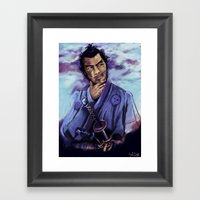 Toshiro Mifune digital painting. Framed Art Print