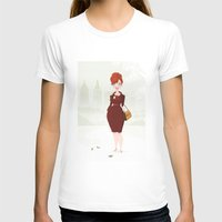 Joan Holloway Womens Fitted Tee White SMALL