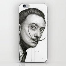 Salvador Dali Watercolor Portrait iPhone & iPod Skin