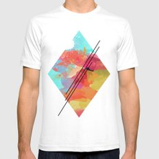 DIAMOND BEAUTY  White Mens Fitted Tee SMALL