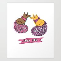Art Print featuring FOXY FOX  by Olive Primo Design + Illustration
