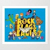 Rock, Flag & Eagle Art Print