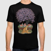 Bonsai Village Mens Fitted Tee Black SMALL