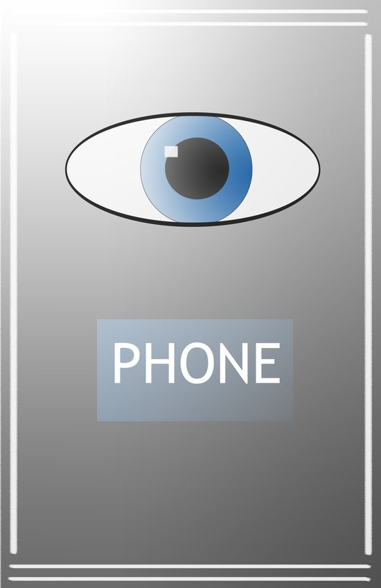 Eye Phone Art Print