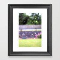 Raindrops.  Framed Art Print