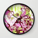 Alice at the Tea Party Wall Clock