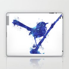 Fairy Wren Watercolour Splash Laptop & iPad Skin