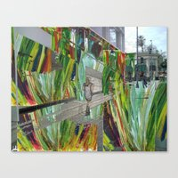WALKING ON BEVERLY HILLS Canvas Print