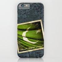 Islamic Republic of Pakistan grunge sticker flag iPhone 6 Slim Case