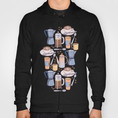 Coffee Love on Blue Hoody