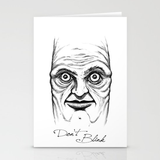 Don't Blink Stationery Card
