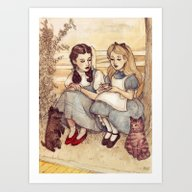 Art Print featuring Dorothy And Alice by Helen Green
