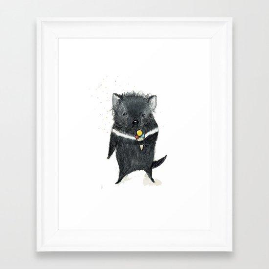 Tasmanian Devil Framed Art Print