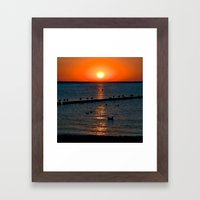 Summer Sunset on the Baltic Sea Framed Art Print