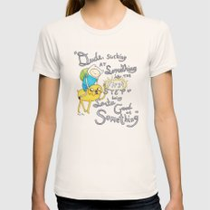 Adventure Time! Womens Fitted Tee Natural SMALL
