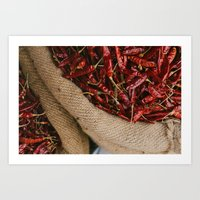 Peppers In The Market Art Print
