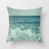 The Sea III. Throw Pillow